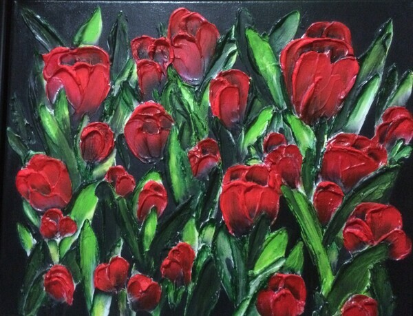Armful of Red Tulips