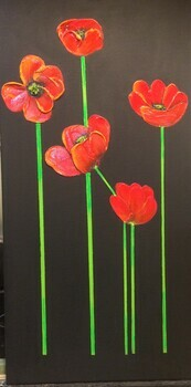 Tall Red Tulips